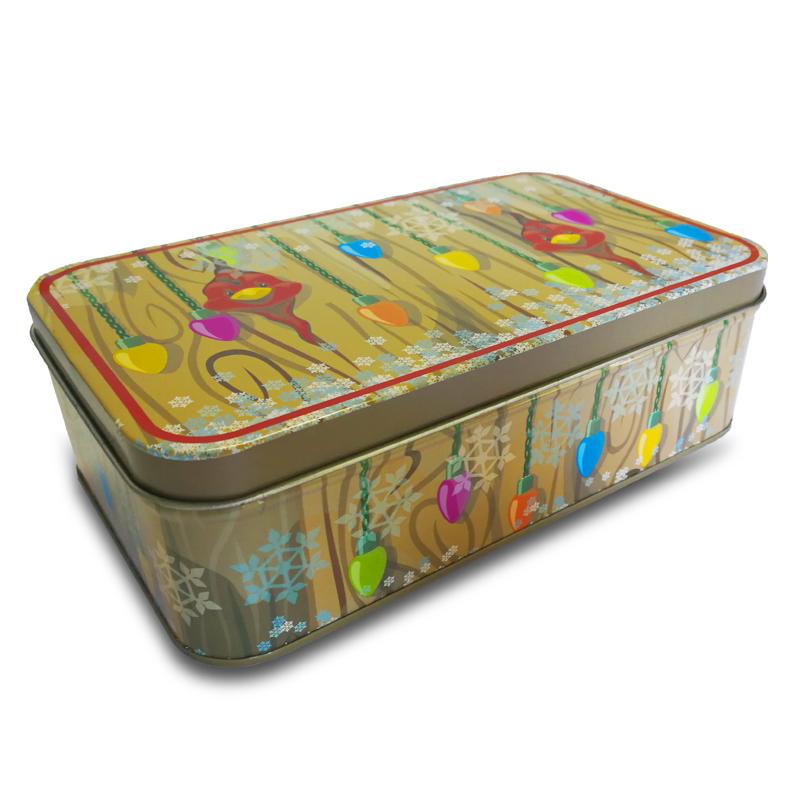Square airtight cookies tin box