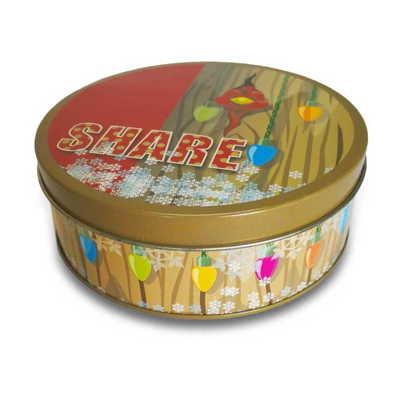 Round Metal Tin Box for food packaging tin box, Biscuit  tin box
