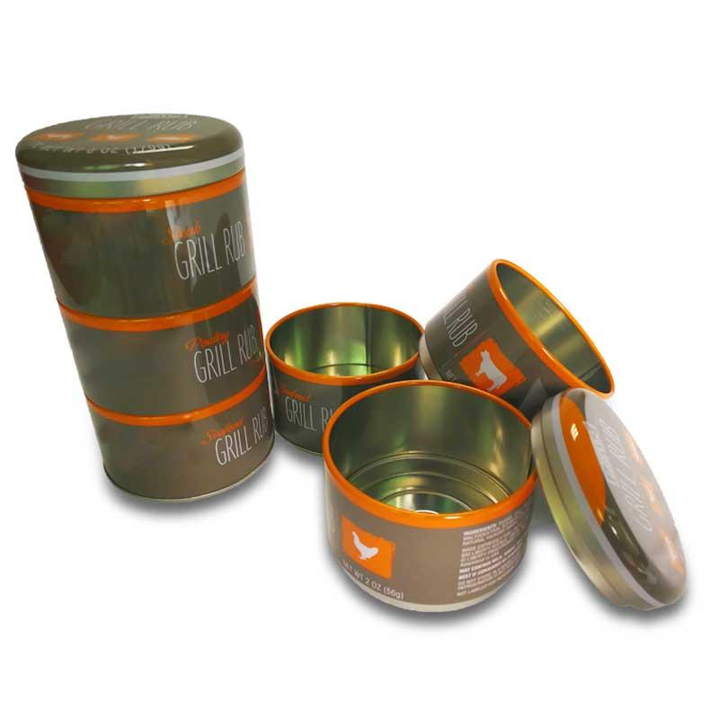Custom made round metal biscuit tin box