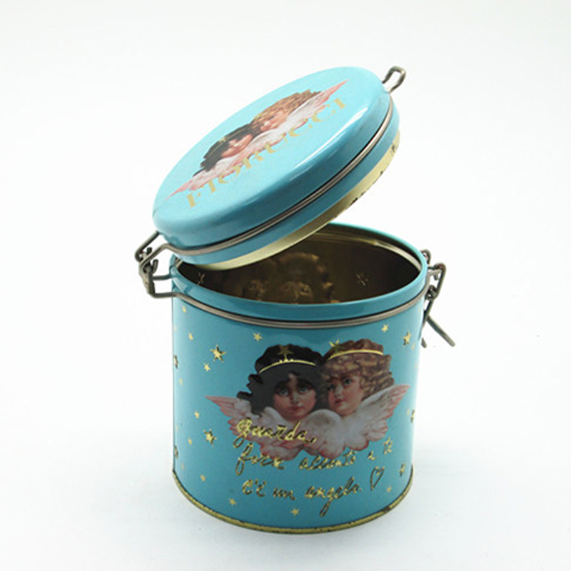 China Custom Angel Biscuits Tin Box