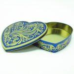 Romantic Heart-Shaped Chocolate Gift Tin Box