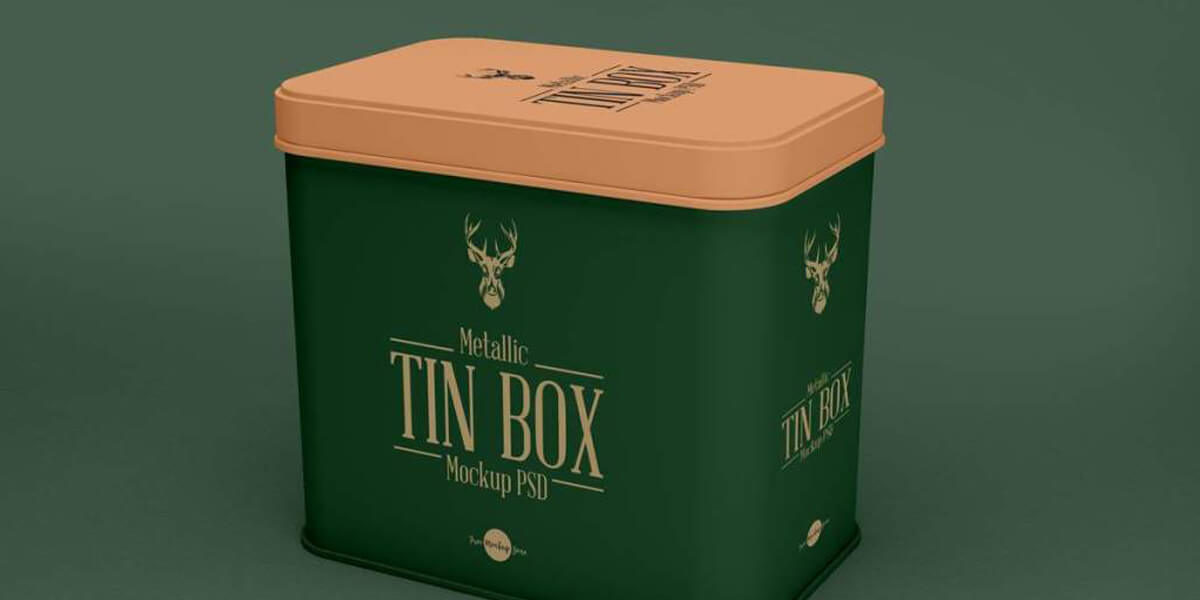 tin box packaging detail